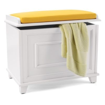 Springfield storage bench with cushion grandin road Storage bench cushion