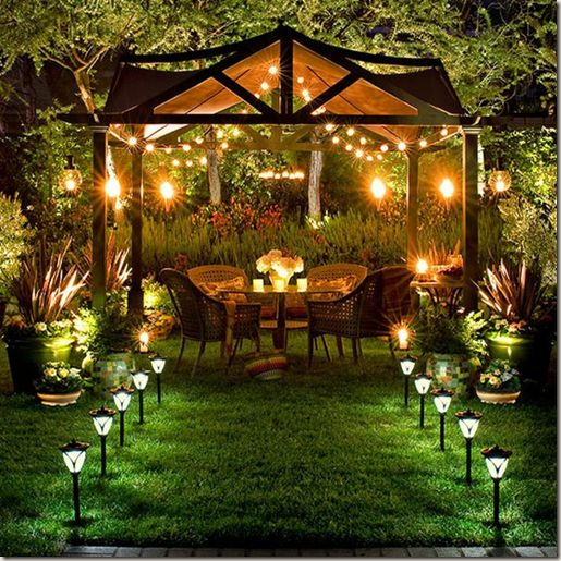 Beautiful Outdoor Spaces Simple Of Outdoor Backyard Lighting Ideas Picture