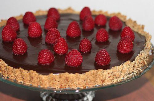 Chocolate, Almond, And Raspberry Tart Recipe — Dishmaps