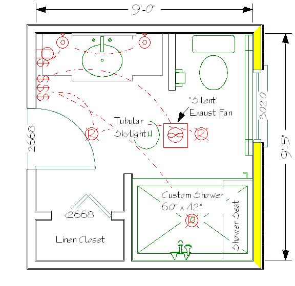 9x9 5 layout bathroom pinterest