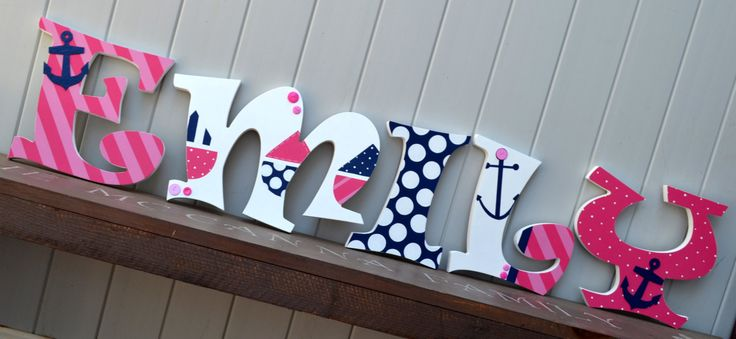Personalized wooden wall letters for kids 39 rooms girls for Wall letters kids room