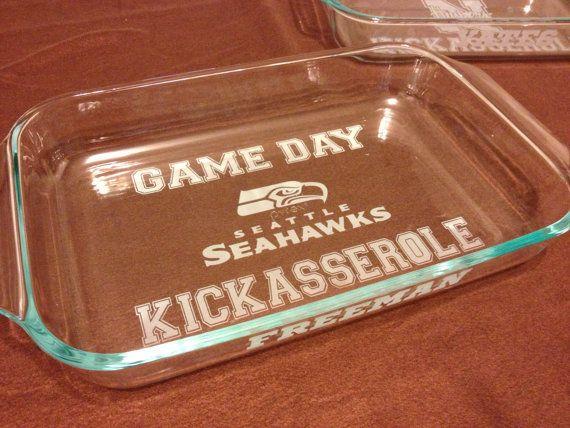 Seattle Seahawks -  GAME DAY Kickasserole Baking Dish on Etsy, $28.00