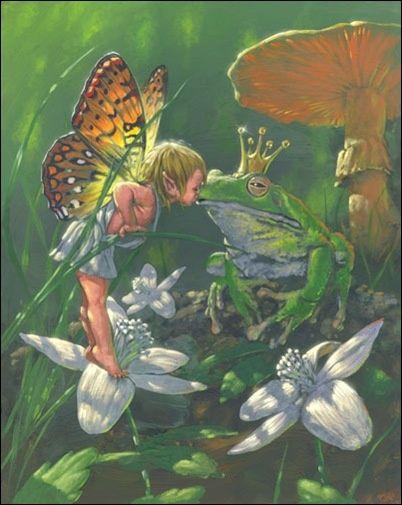 kiss frog prince