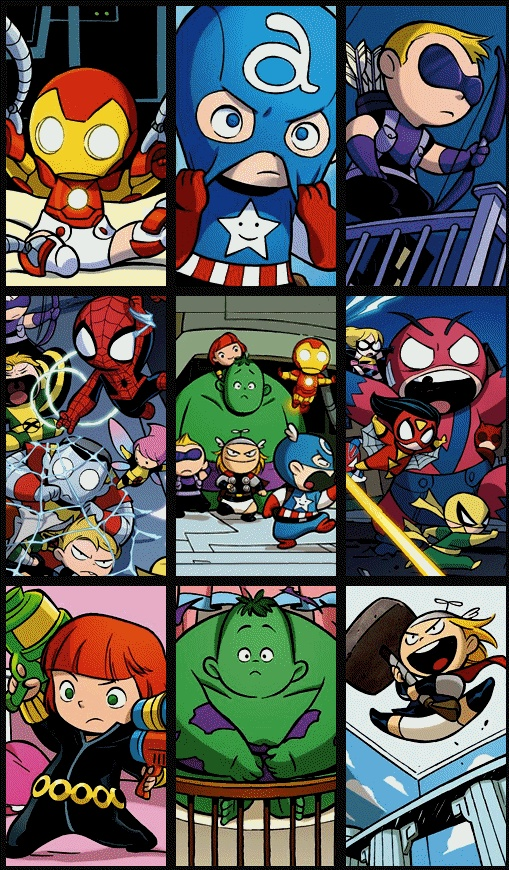 Marvel A Babies vs. X Babies.   Comic Art   Pinterest