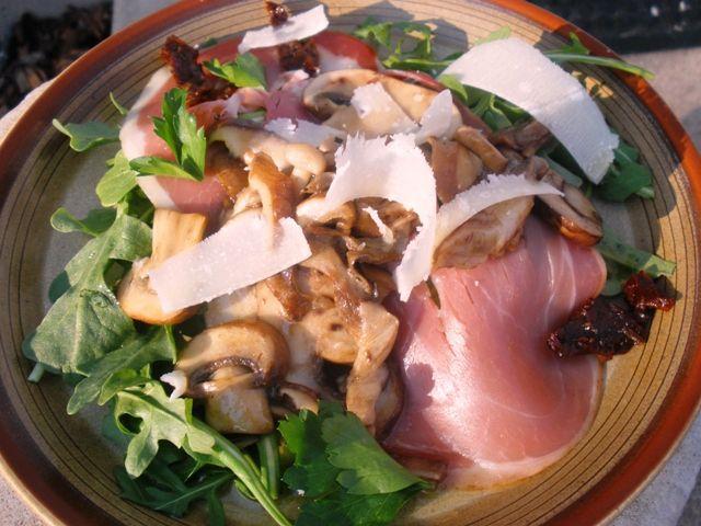Warm mushroom salad   Salads   Pinterest