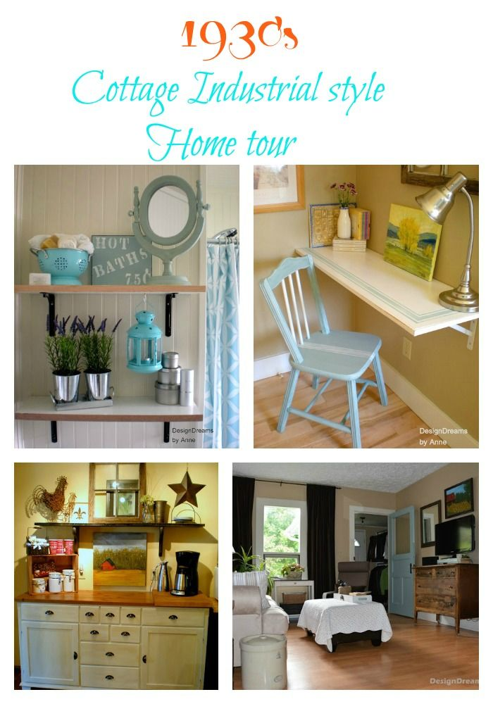 1930 s cottage industrial style home tour for 1930s decoration