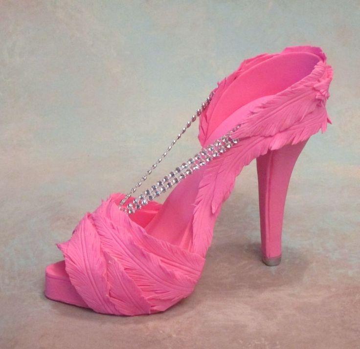 fondant gum paste high heel shoe cake shoes tutorials