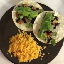 Sweet Potato Black Bean Tacos with Spicy Swiss Chard Pesto. Delicious ...