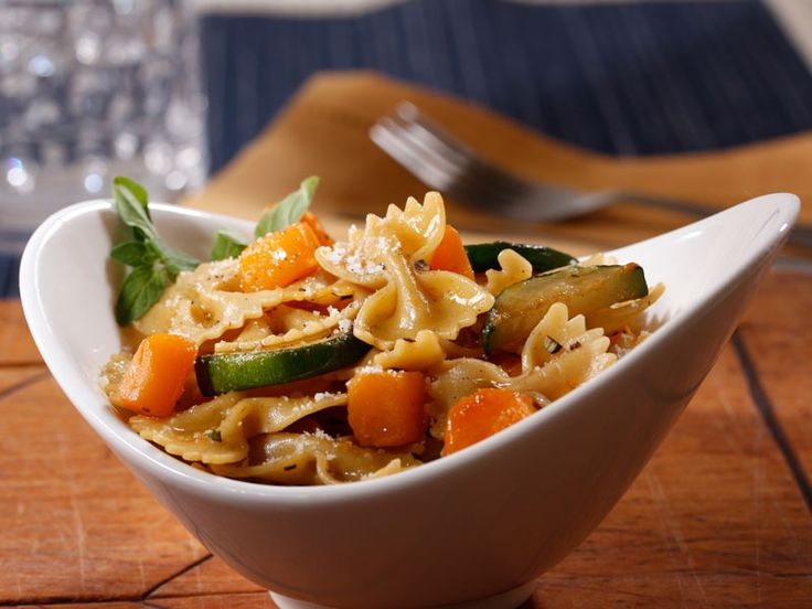 Barilla® PLUS® Farfalle with Zucchini, Butternut Squash & Pecorino ...