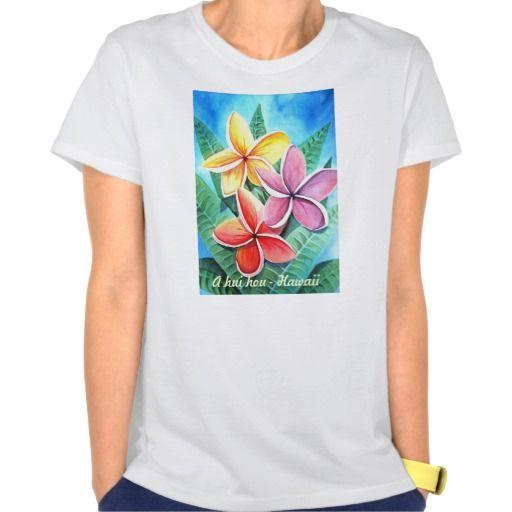 A Hui Hoa Hawaii Plumeria T Shirt