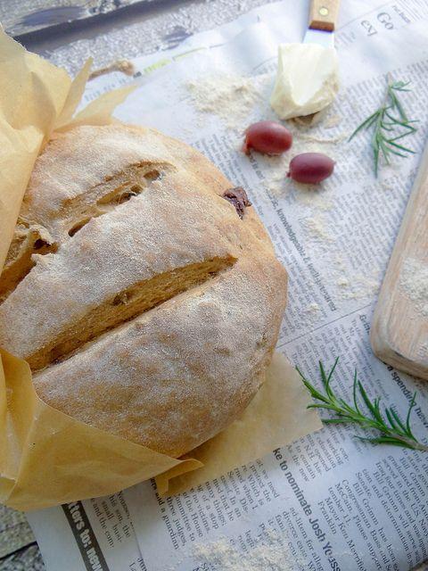 Rosemary Olive Peasant Bread - vegan   Bread - vegan   Pinterest