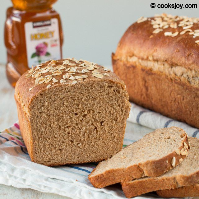 Whole Wheat Honey Bread | Breads, Rolls and Muffins | Pinterest