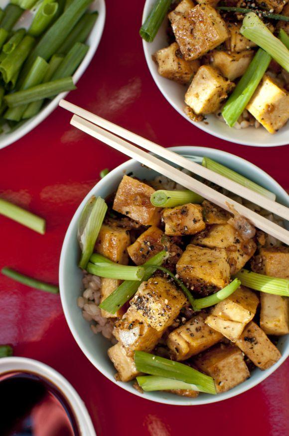 Black pepper tofu | Food & Drink | Pinterest