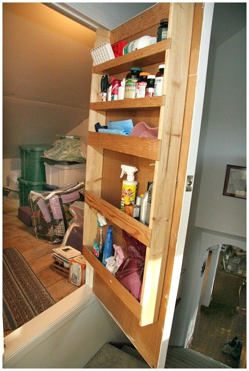Attic storage solutions house renos pinterest for In house storage solutions