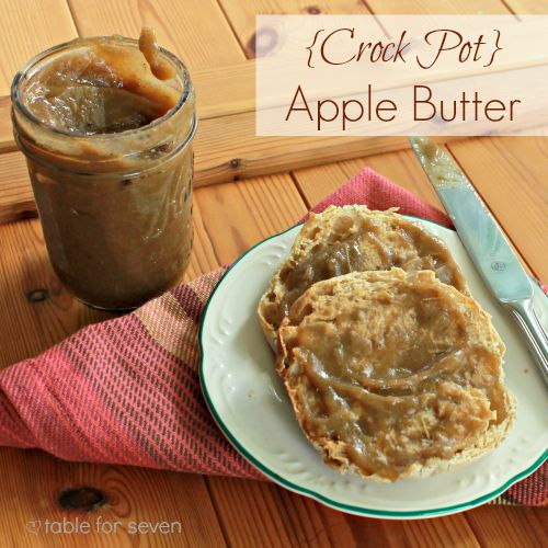 Crock Pot} Apple Butter from Table for 7 #crockpot #slowcooker