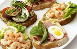 open sandwiches | Food: Recipes To Try | Pinterest