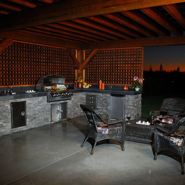 Custom Outdoor Kitchen Outdoor Entertaining Pinterest