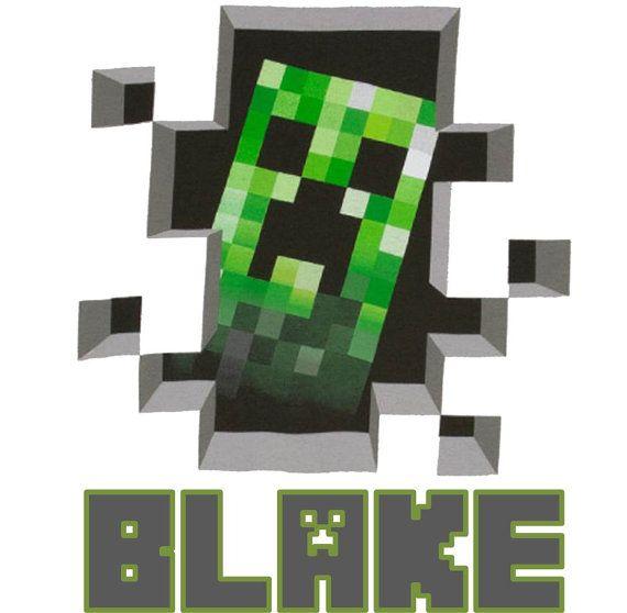 Minecraft creeper iron on patch