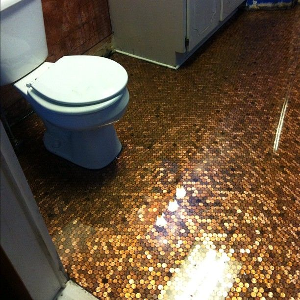 DIY Penny Floor Complete House Remodel Pinterest