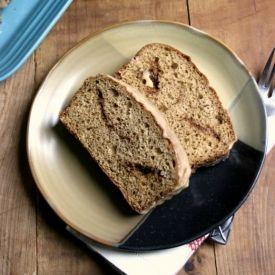 ... Sugar Loaf Cake dressed with Cinnamon Glaze {made with Greek yogurt