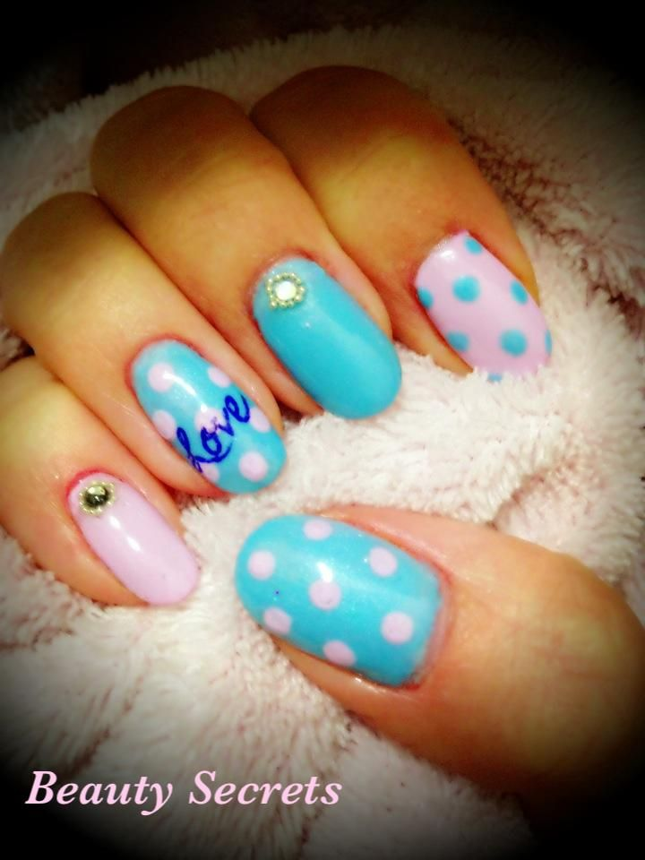 Ombre Nails Pink And Blue Blue And Pink Nails