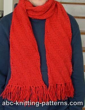 Diagonal Scarf - Vogue Knitting