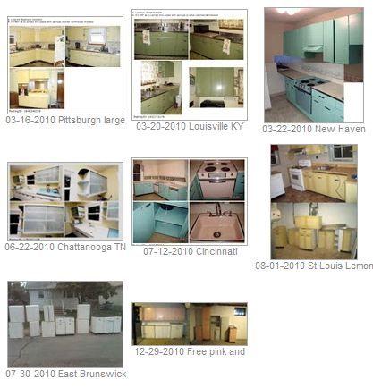 the average price of premium vintage steel kitchen cabinets in 2010