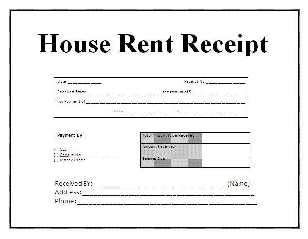 Doc685399 House Rental Receipt Format Sample Rent Receipt – Rent Receipt Sample Doc