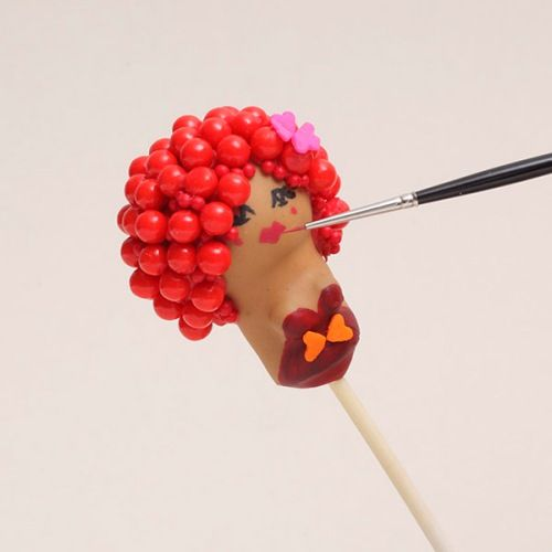 Cake Pop Tips: Painting Pops from Rhubarb & Rose. This is Raspberry ...