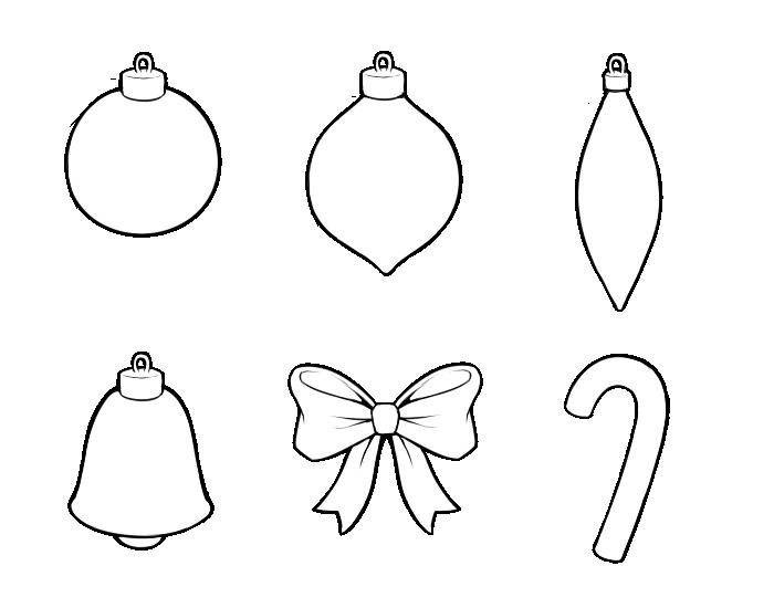 christmas tree decorations templates