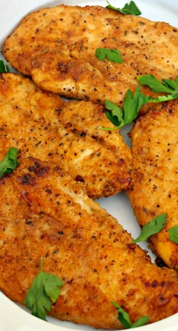 Baked Fried Chicken ~ Quick and easy Baked Fried Chicken is a slimmed ...