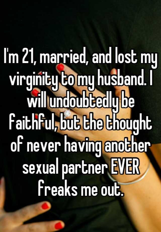 Im scared of losing my virginity