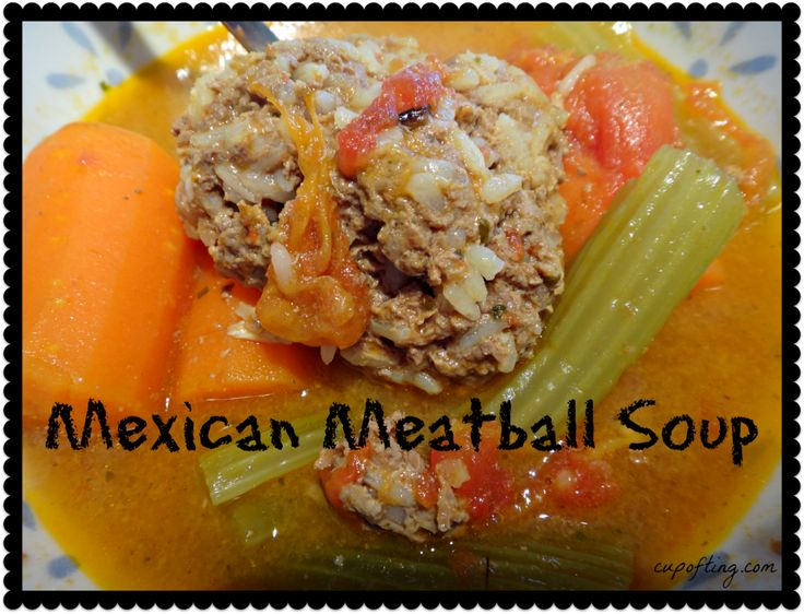 mexican meatball soup | CoT Recipe Round-up | Pinterest