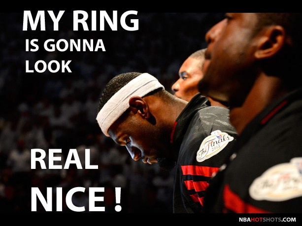 Memes lebron james imagines what his nba championship ring is going