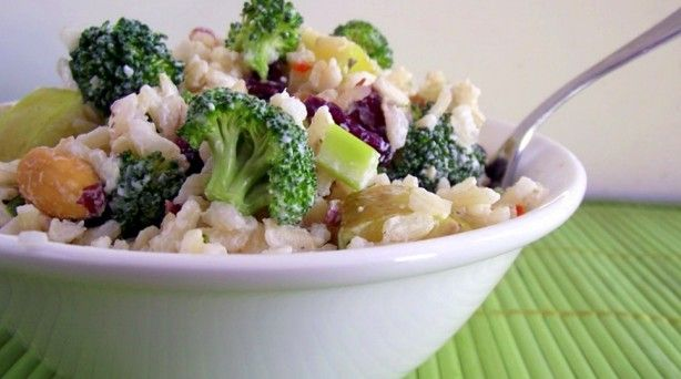 Creamy Brown Rice, Broccoli & Apple Salad