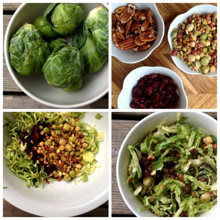Recipe: Crisp Brussels Sprout Salad w/ Apple Dijon Dressing