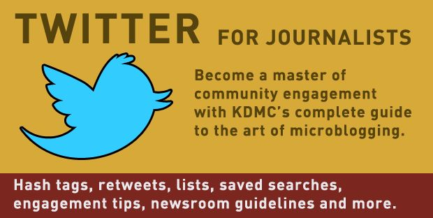 Twitter for journalists knight digital media center
