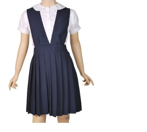 French Toast School Uniforms Girls Pleated Jumper Navy Blue New w Tags ...