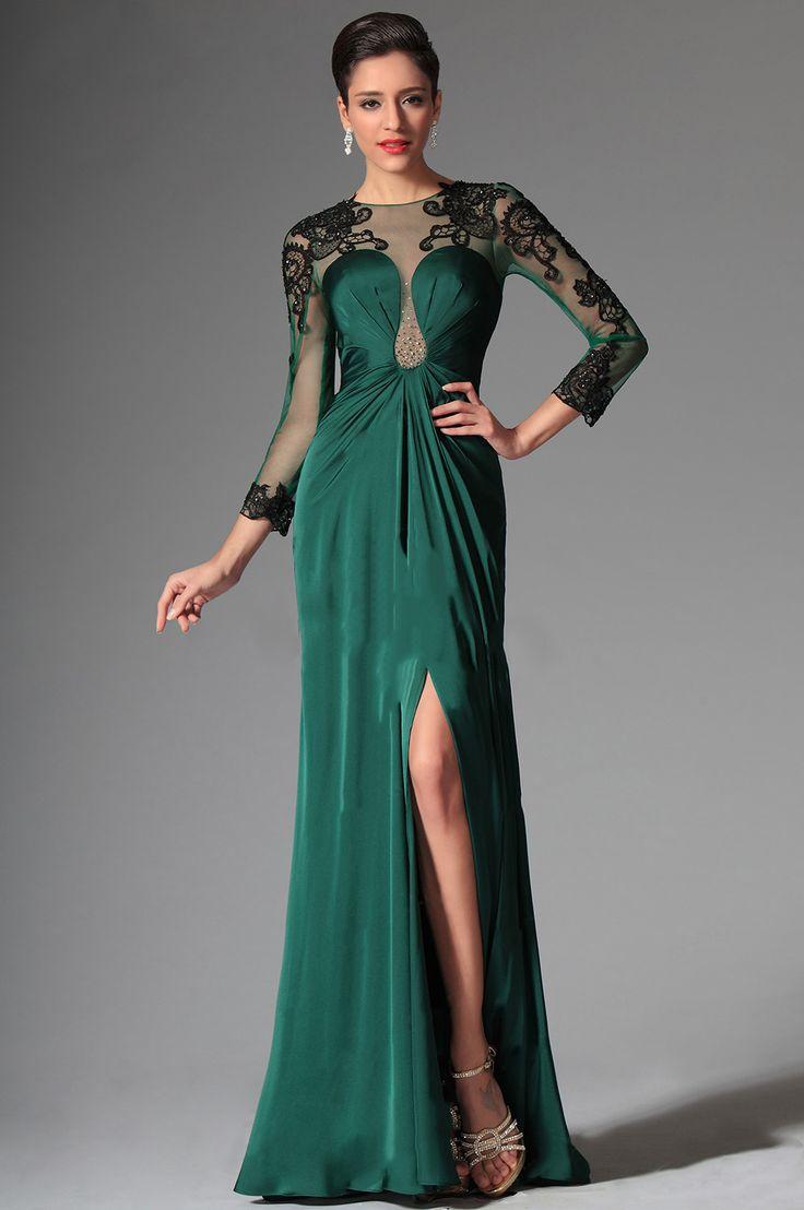 Вечерние зелёные платья