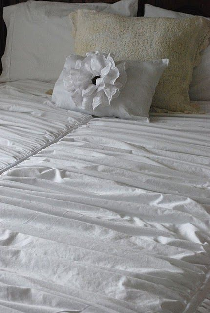 DIY Ruched duvet
