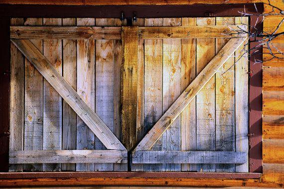 Shutters Window Rustic Logs Building Wood Siding Chalet Colorado Cabi