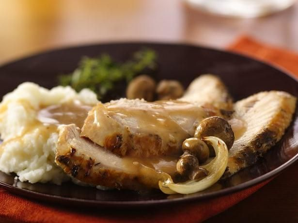 Butter, Dijon and herbs create the wow in baked turkey breast.