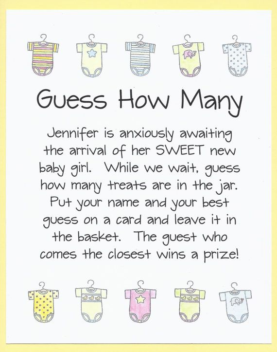 how many candy jar by cardsbykooper quick and easy baby shower games