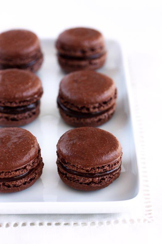 chocolate macarons | Delish | Pinterest