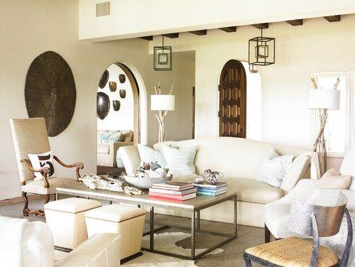 modern southwest living room within southwest