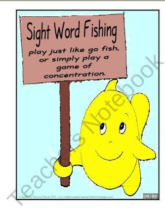 basic  sight fish  word word Pinterest fish   go go game sight Reading