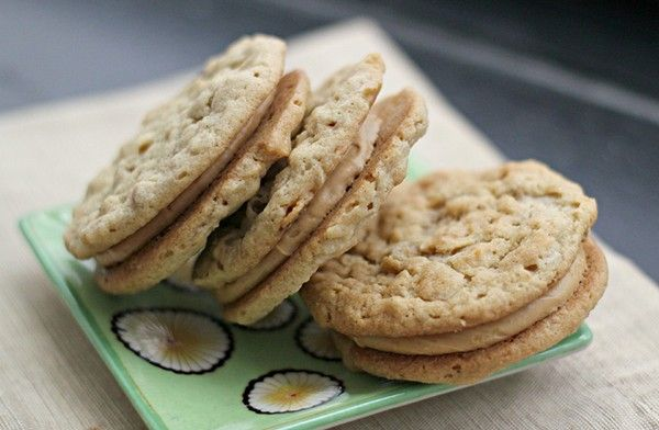 "Peanut butter sandwich cookies (""the Nora Ephron"") from Eats Well w..."