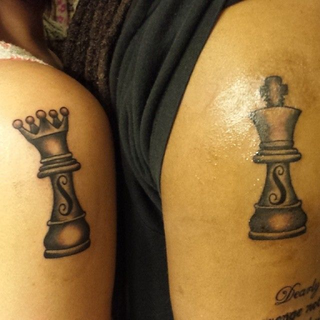 King And Queen Chess Piece Tattoo Chess king and queen,