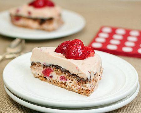 Vanilla, Strawberry, and Fudge Ice Cream Dessert Recipe | Sweet Tooth ...