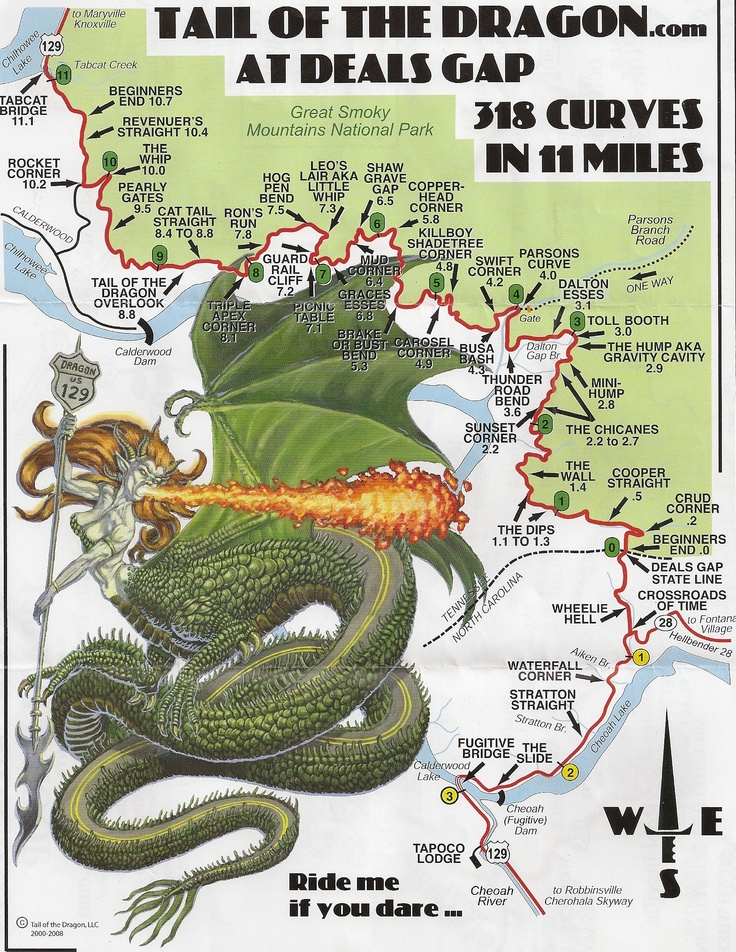 Tail Of The Dragon Tennessee Dreaming Pinterest